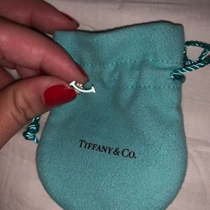 AUTHENTIC Tiffany T  Smile Earring (one)